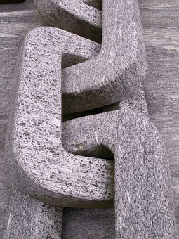 Granite, Chain, Stone, Grey, Art, Sculpture, Monument