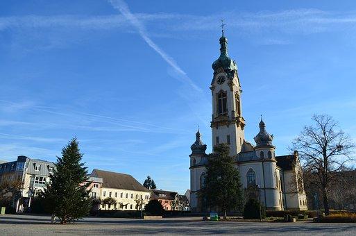 Church, Hockenheim Germany, Protestant