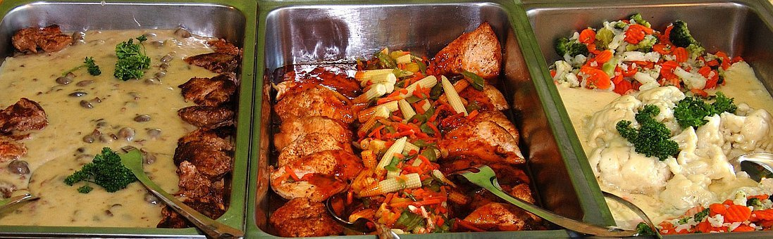Hot Buffet, Eat, Food, Delicious, Vegetables, Kitchen
