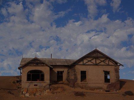 Ghost Town, Kolmanskop, Namibia, Sand, Desert, Ruin
