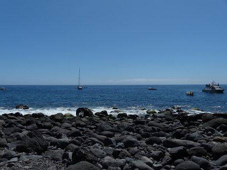 Bay, Booked, Masca Ravine, La Reptiles, Beach, Coast