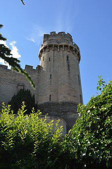 Castle, Tower, Warwick, Uk, England, British, Medieval