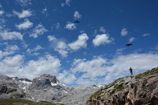 Mountain, Vacuum, Cliffs, Cantabria, Vertigo, Clouds
