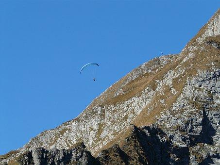 Paraglider, Paragliding, Höfats, West Summit