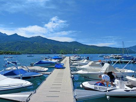 Boats, Lake, Pier, Port, Anchorage, Leisure Holidays