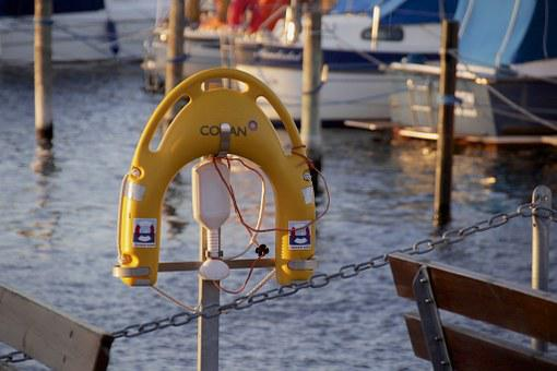 Port, Harbour, Lifesaver, Safety Belt, Pier, Bay