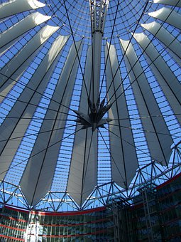 Sony, Center, Potsdam Place, Dome, Glass Dome, Berlin