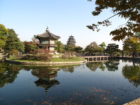 Seoul, Gyeongbok Palace, Forbidden City, Roof Tile