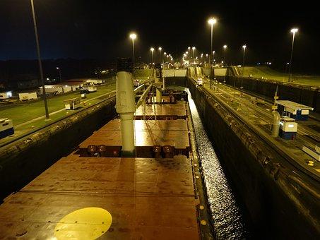 Panama Canal, Ship, Beautiful Panama Canal