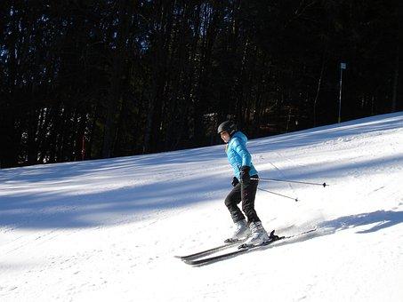Skiers, Ski Run, Ski Area, Skiing, Alpine Skiing