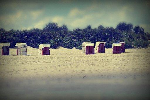 Beach, Clubs, North Sea, Dunes, Vacations, Tiltshift