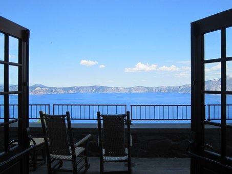 Patio, Stoop, Porch, Veranda, Verandah, Crater, Lake