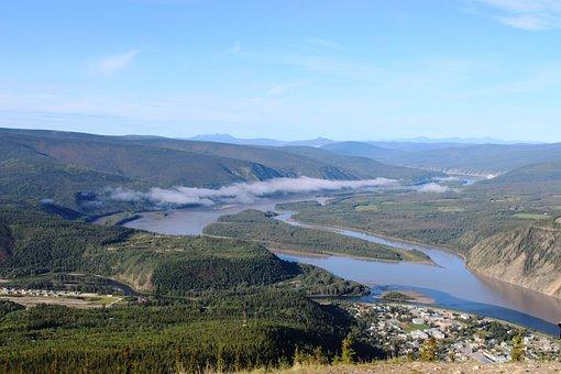 Yukon, River, Dawson City, Canada, Yukon Territories