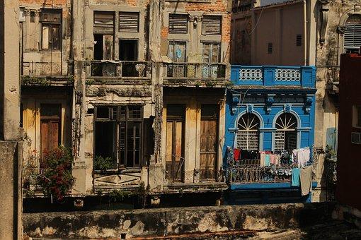 Cuba, La-habana, Havana, Habana, House, Blue, Caribbean