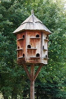 Birdhouse, Box, Brown, Dove, Dovecot, Dovecote, Doves