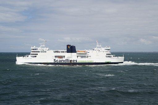 Ferry, Ship, Danish, Denmark, Hybrid, Hybrid Ship