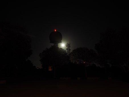 Radar Equipment, Balloon-like, Dark, Gespentisch