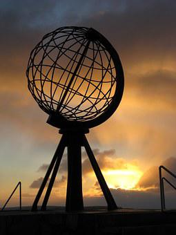 North Cape, Monument, Globe, Norway, Holiday, Mageroya