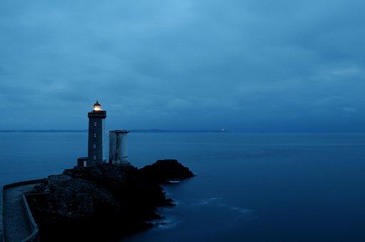 Lighthouse, Phare Du Petit Minou, Bay Of Brest, Sea