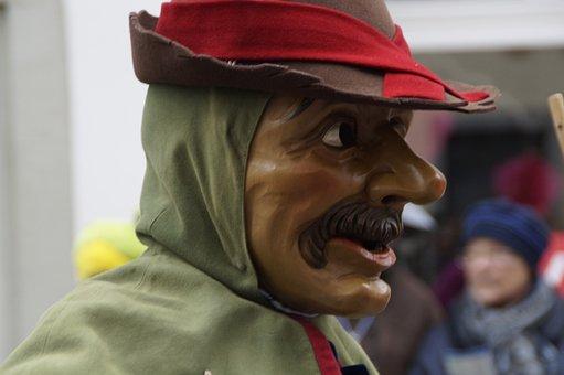 Man, Male, Human, Face, Person, Hat, Strassenfasnet