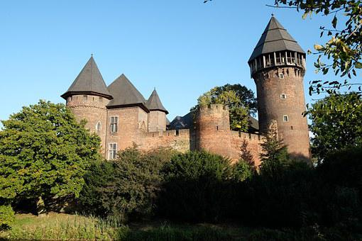Castle, Krefeld, Linn, Germany, Middle Ages