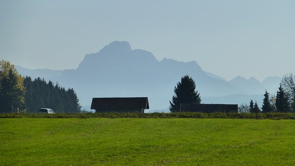 Allgäu, Autumn, Säuling, Panorama, View, Meadow, Sun