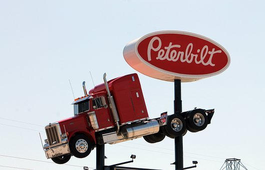 Truck, Peterbilt, Trucking, Sign, Logo, Vehicle
