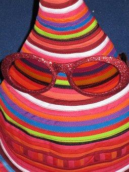 Hat, Colorful, Color, Glasses, Pink, Pink Glasses