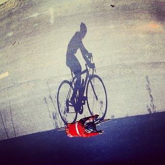Bike, Riding, Aerial, Shadow, Sports, Ladd, Race