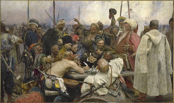 Cossacks, Warrior, Festival, Repin, Painting