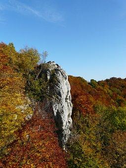Kahlenstein, Rock, Viewpoint, Swabian Alb, Autumn