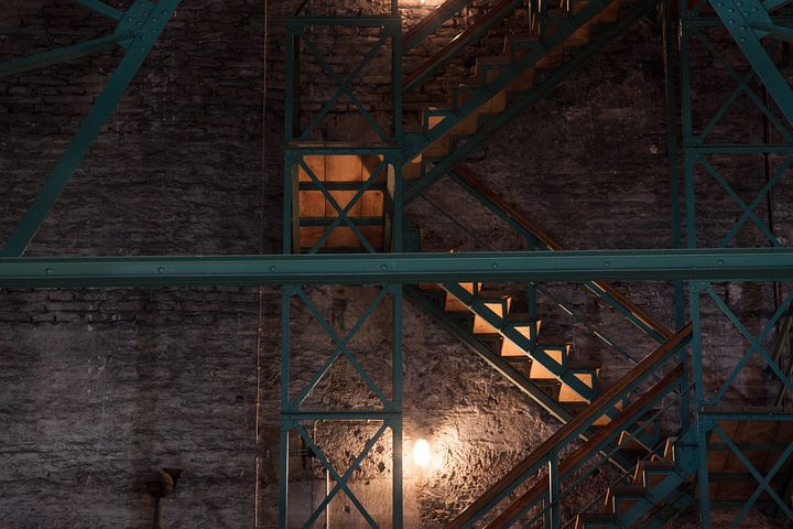 Stairs, Wood Stairs, Iron Construction, Iron