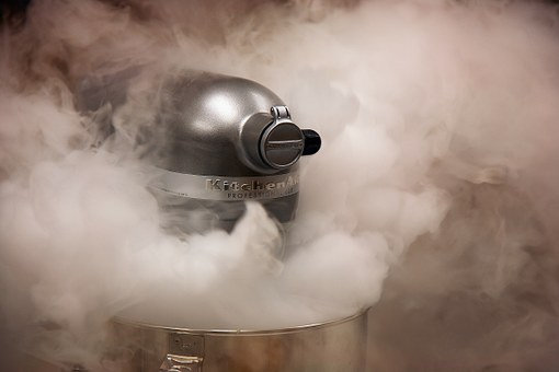 Stand Mixer, Baking, Kitchen, Equipment, Smoke