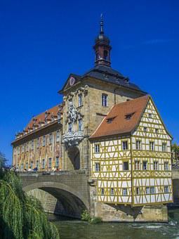 Bamberg, Town Hall, Fachwerkhaus, Bridge, Germany