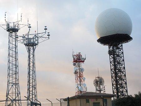 Antennas, Radar Equipment, Balloon-like, White, Ball