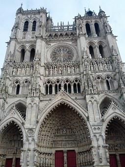 Church, Bell Tower, Cathedral, Amiens, France, Picardie