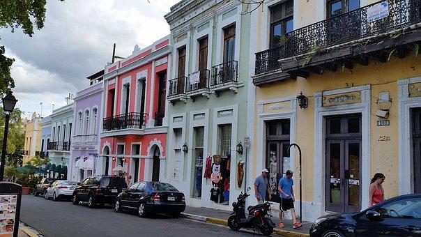 Street, Puerto Rico, San Juan, Architecture, Historic