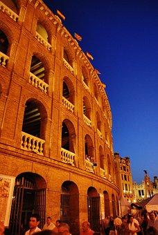 Valencia, Sky, Blue, Arena, Night, Spain, Europe