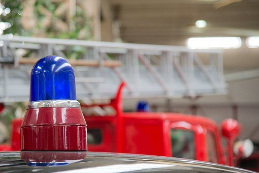 Blue Light, Fire, Blue, Red, Fire Truck, Use, Auto