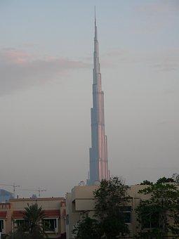 Burj Khalifa, Dubai, Skyscraper, Building, Tall