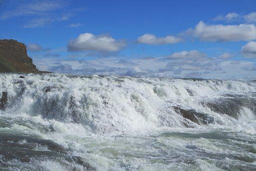 Gullfoss, Iceland, Cascade, Nature, Water, Landscape