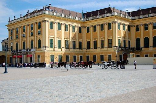 Vienna, Schönbrunn, Castle, Castle Courtyard, Sunny
