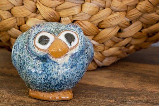Owl, Ceramic, Ceramic-owl, Bird, Deco, Decoration