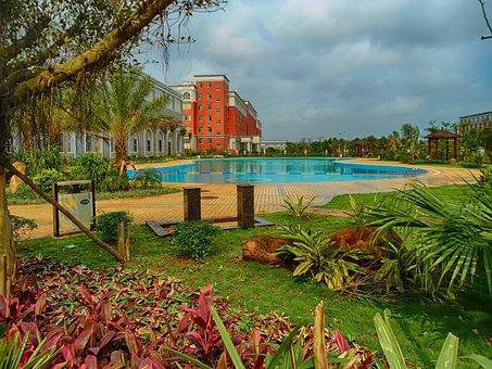 Haikou College, Hainan, China, School, Swimming Pool