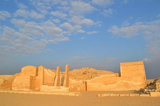Egypt, Memphis, Sand, Scenery, Step Pyramid, Djoser