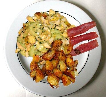 Food, Court, Rosemary Potatoes, Potatoes
