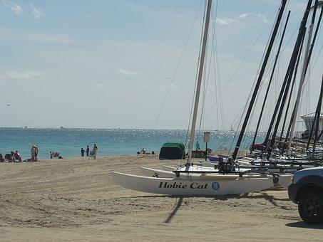 Fort, Lauderdale, Beach, Florida, Atlantic, Ocean, Sand