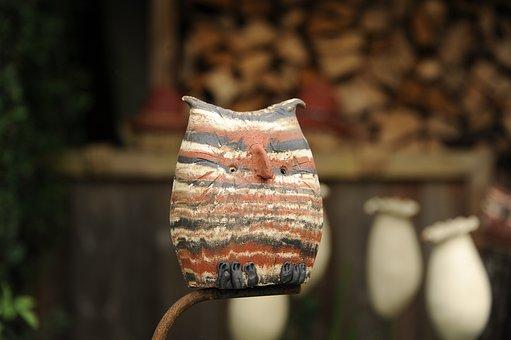 Owl, Bird, Colorful, Ceramic, Decoration, Funny