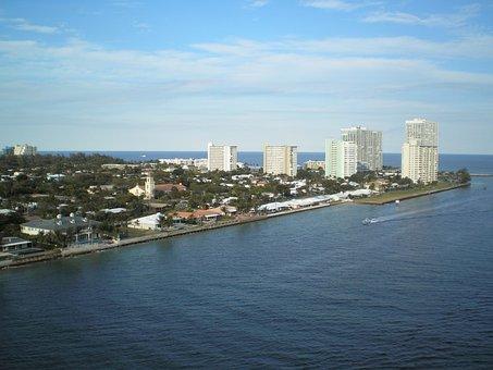 Fort Lauderdale, Sea, Harbor, Coast, Landscape