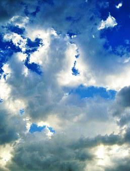 Loose Cloud, Cloud, Loose, Patches, White, Light, Sky